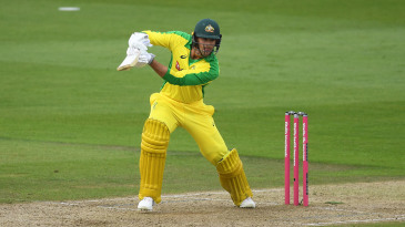 Ashton Agar made 23 off 20 in the second T20I