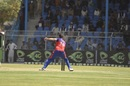 Dawlat Zadran catches Noor Ali Zadran short in his delivery stride, Kabul Eagles v Mis Ainak Knights, Shpageeza league, Kabul, September 8, 2020