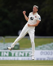 Harry Podmore leaps in celebration, Bob Willis Trophy, Kent v Hampshire, Canterbury, September 7, 2020