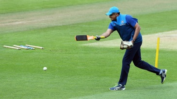Anil Kumble at a training session