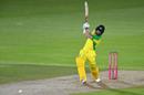 Matthew Wade slugs down the ground, England v Australia, 3rd T20I, Southampton, September 8, 2020