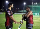 Abhishek Nayar passes on some tips to Nikhil Naik, Abu Dhabi, September 8, 2020