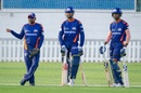 Mahela Jayawardene with the Pandya brothers at training, Abu Dhabi, September 9, 2020
