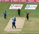Ali Khan uproots Rahkeem Cornwall's middle stump, St Lucia Zouks v Trinbago Knight Riders, CPL final, Tarouba, September 10, 2020
