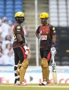 Darren Bravo and Lendl Simmons added an unbeaten 138 for the third wicket, St Lucia Zouks v Trinbago Knight Riders, CPL final, Tarouba, September 10, 2020