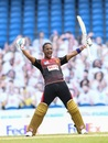 Lendl Simmons savours the moment of victory, St Lucia Zouks v Trinbago Knight Riders, CPL final, Tarouba, September 10, 2020