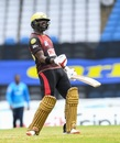 Darren Bravo roars after hitting the winning boundary, St Lucia Zouks v Trinbago Knight Riders, CPL final, Tarouba, September 10, 2020