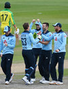 Mark Wood claims another wicket for England, England v Australia, 1st ODI, Old Trafford, September 11, 2020