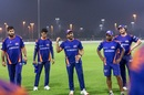 Rohit Sharma leads a Mumbai Indians huddle, Abu Dhabi, September 10, 2020