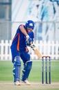 Saurabh Tiwary dabs the ball, Abu Dhabi, September 10, 2020