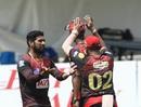 Sikandar Raza celebrates a wicket, Trinbago Knight Riders v St Kitts and Nevis Patriots, Tarouba, September 2, 2020