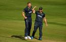 Timm van der Gugten (left) was in the wickets, Gloucestershire v Glamorgan, Vitality Blast, Bristol, August 29, 2020