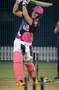 David Miller bats at the Rajasthan Royals nets, Dubai, September 14, 2020