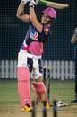 David Miller bats at the Rajasthan Royals nets, Dubai, September 14, 2020
