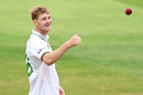 Tom Taylor was all smiles, Leicestershire v Durham, Bob Willis Trophy, Grace Road, August 15, 2020