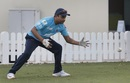 Amit Mishra in action during a Delhi Capitals fielding session, Dubai, IPL 2020, September 10, 2020