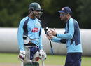 Soumya Sarkar listens to batting coach Neil McKenzie during a training session, World Cup 2019, Edgbaston, July 1, 2019