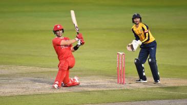 Liam Livingstone swings the ball leg side