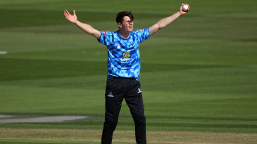 George Garton starred with ball and bat against Middlesex