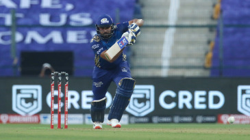 Rohit Sharma punches one down the ground