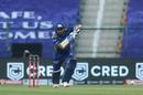 Rohit Sharma punches one down the ground, Mumbai Indians v Chennai Super Kings, IPL 2020, Abu Dhabi, September 19, 2020