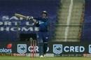 Saurabh Tiwary muscles one away, Mumbai Indians v Chennai Super Kings, IPL 2020, Abu Dhabi, September 19, 2020