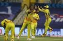 Lungi Ngidi celebrates a wicket, Mumbai Indians v Chennai Super Kings, IPL 2020, Abu Dhabi, September 19, 2020
