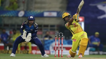 Ambati Rayudu goes for the big one