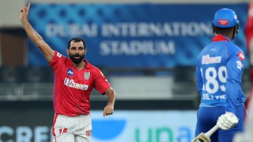 Mohammed Shami made early inroads for Kings XI Punjab
