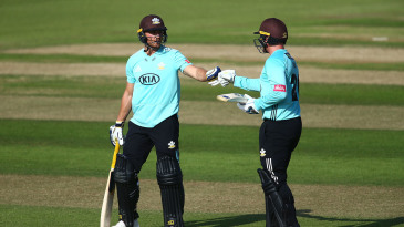 Laurie Evans and Jason Roy put on 135 for the second wicket