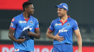 Kagiso Rabada and Marcus Stoinis have plenty to smile about