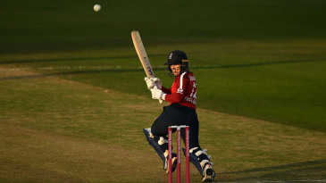 Tammy Beaumont flicks a scoop over her left shoulder