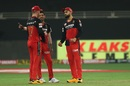 Virat Kohli, AB de Villiers and Yuzvendra Chahal discuss tactics, Royal Challengers Bangalore vs Sunrisers Hyderabad, IPL 2020, Dubai, September 21, 2020