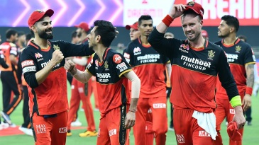 A joyous and victorious RCB troop off the field