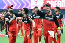 A joyous and victorious RCB troop off the field, Royal Challengers Bangalore vs Sunrisers Hyderabad, IPL 2020, Dubai, September 21, 2020