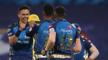Trent Boult sent back Shane Watson early in the Chennai Super Kings chase