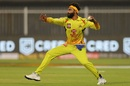 Ravindra Jadeja aims a throw, Rajasthan Royals v Chennai Super Kings, IPL 2020, Sharjah, September 22, 2020