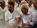 Sunil Gavaskar and Vasu Paranjpe at Madhav Apte's funeral, Mumbai, September 23, 2019