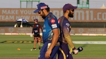 Rohit Sharma and Dinesh Karthik at the toss