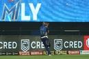 Hardik Pandya took an outstanding catch in the outfield to remove Nitish Rana, Kolkata Knight Riders v Mumbai Indians, IPL 2020, Abu Dhabi, September 23, 2020