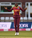 Stafanie Taylor celebrates a breakthrough, England v West Indies, 2nd women's T20I, Derby, September 23, 2020