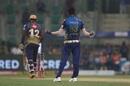 Jasprit Bumrah celebrates after bowling Andre Russell, Kolkata Knight Riders v Mumbai Indians, IPL 2020, Abu Dhabi, September 23, 2020