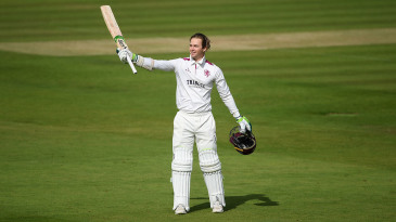 Eddie Byrom made his third first-class hundred, and his first against another county