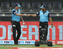 Umpires Paul Reiffel and Anil Chaudhary walk out onto the field, Kings XI Punjab vs Royal Challengers Bangalore , IPL 2020, Dubai, September 24, 2020