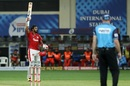 KL Rahul raises his bat after getting to his century, Kings XI Punjab vs Royal Challengers Bangalore , IPL 2020, Dubai, September 24, 2020