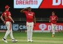 Sheldon Cottrell brings out his trademark salute, Kings XI Punjab vs Royal Challengers Bangalore , IPL 2020, Dubai, September 24, 2020