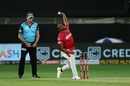 Sheldon Cottrell hits his delivery stride, Kings XI Punjab vs Royal Challengers Bangalore, IPL 2020, Dubai, September 24, 2020