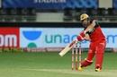 AB de Villiers shapes to hit one off the middle of the bat, Kings XI Punjab vs Royal Challengers Bangalore , IPL 2020, Dubai, September 24, 2020