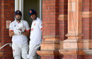 Nick Browne and Alastair Cook await the start of Essex's innings, Somerset vs Essex, Bob Willis Trophy final, Day 3, Lord's, September 25, 2020
