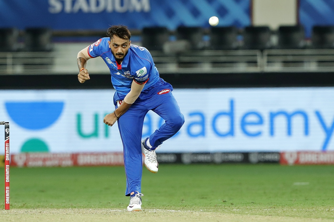 Axar Patel has given DC plenty of control with his bowling | Photo | Global | ESPNcricinfo.com